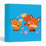 Cute Playful Cartoon Foxes Vinyl Binders