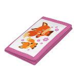 Cute Playful Cartoon Foxes Wallet