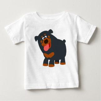 Cute Playful Cartoon Rottweiler Baby T-Shirt