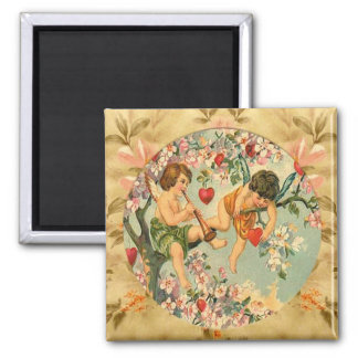 Cute Playful Cherubs Vintage Custom Magnet