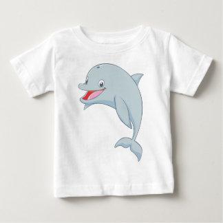 Cute Playful Dolphin Cartoon Baby T-Shirt