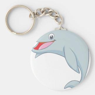 Cute Playful Dolphin Cartoon Keychain