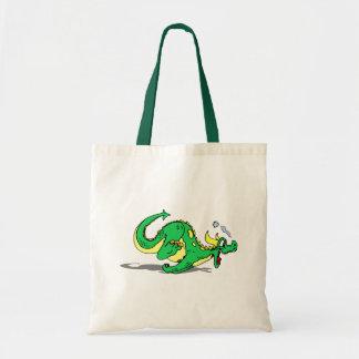 Cute Playful Friendly Dragon Tote Bag