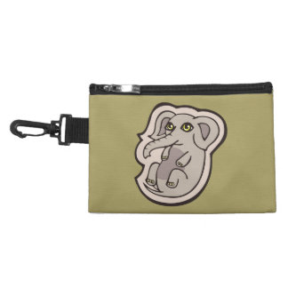 Cute Playful Gray Baby Elephant Drawing Design Accessory Bags