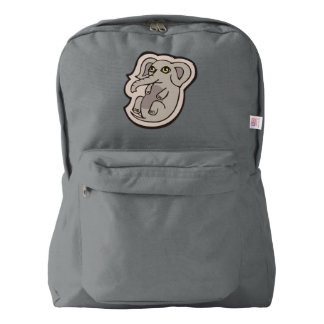 Cute Playful Gray Baby Elephant Drawing Design American Apparel™ Backpack