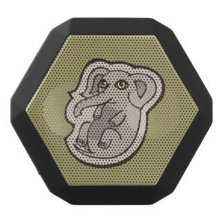 Cute Playful Gray Baby Elephant Drawing Design Black Bluetooth Speaker