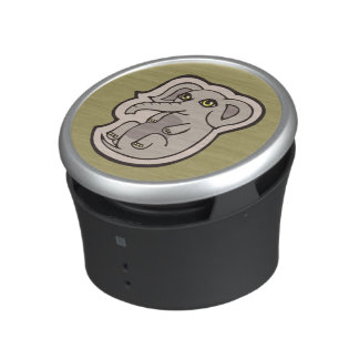 Cute Playful Gray Baby Elephant Drawing Design Bluetooth Speaker