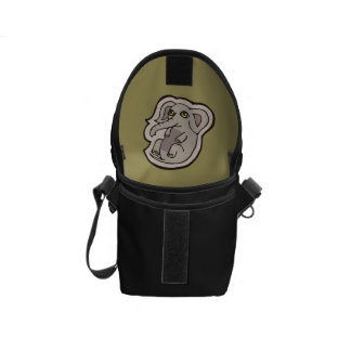 Cute Playful Gray Baby Elephant Drawing Design Courier Bag