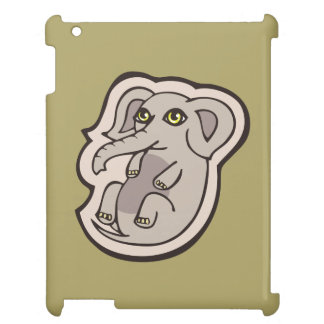 Cute Playful Gray Baby Elephant Drawing Design Cover For The iPad