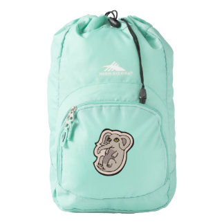 Cute Playful Gray Baby Elephant Drawing Design High Sierra Backpack