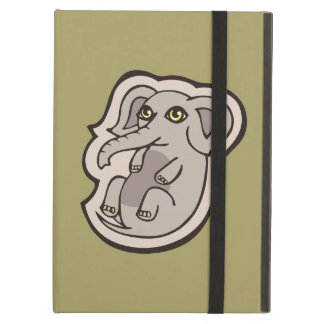 Cute Playful Gray Baby Elephant Drawing Design iPad Air Case
