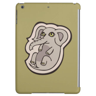 Cute Playful Gray Baby Elephant Drawing Design iPad Air Cases