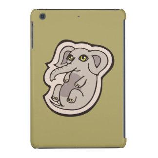 Cute Playful Gray Baby Elephant Drawing Design iPad Mini Case