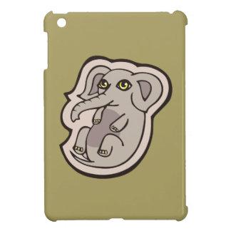 Cute Playful Gray Baby Elephant Drawing Design iPad Mini Covers