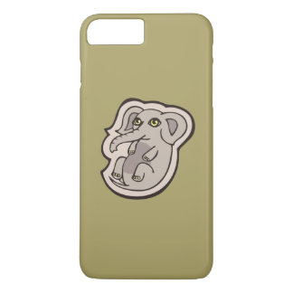 Cute Playful Gray Baby Elephant Drawing Design iPhone 8 Plus/7 Plus Case