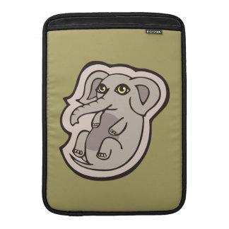 Cute Playful Gray Baby Elephant Drawing Design MacBook Air Sleeves
