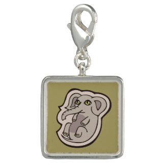 Cute Playful Gray Baby Elephant Drawing Design Photo Charm