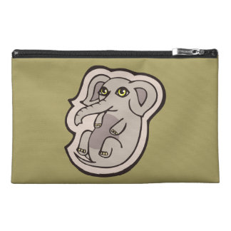 Cute Playful Gray Baby Elephant Drawing Design Travel Accessories Bag