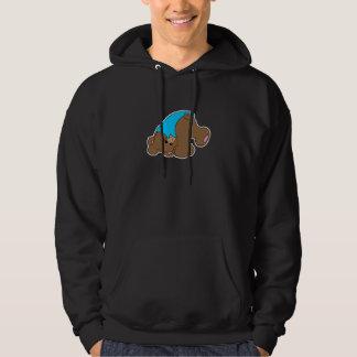cute playful tumbling teddy bear design hoodie