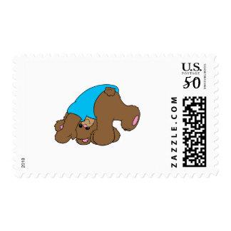 cute playful tumbling teddy bear design postage