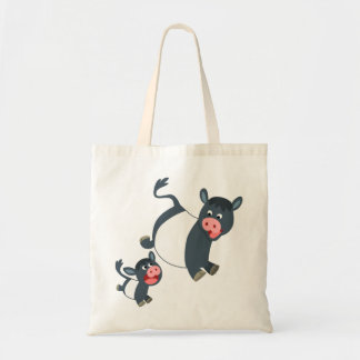 Cute Playing Belted Galloway Cow & Calf Bag