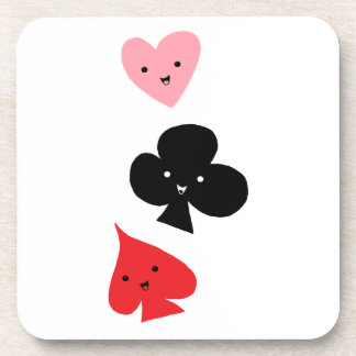 Cute Playing Card Suits Drink Coaster