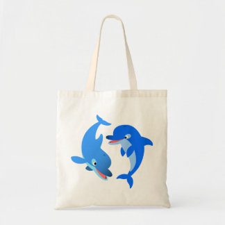 Cute Playing Cartoon Dolphins Bag