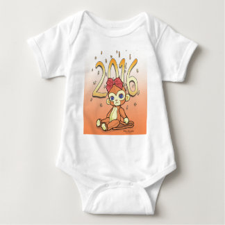 Cute Plushie little NewYear Monkey for 2016 Baby Bodysuit