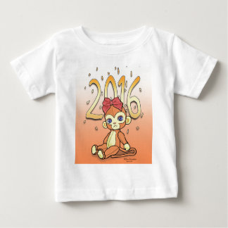 Cute Plushie little NewYear Monkey for 2016 Baby T-Shirt