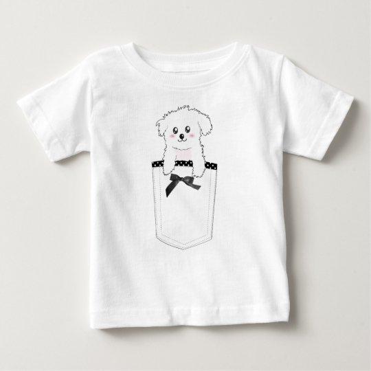 Cute Pocket Puppy Dog Baby T-Shirt