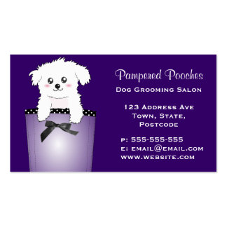 Cute Pocket Puppy Dog Double-Sided Standard Business Cards (Pack Of 100)
