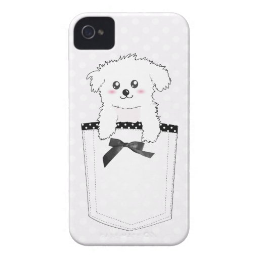 Cute Pocket Puppy Dog Case-Mate iPhone 4 Cases