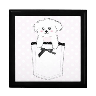 Cute Pocket Puppy Dog Jewelry Boxes