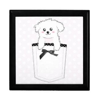 Cute Pocket Puppy Dog Jewelry Box