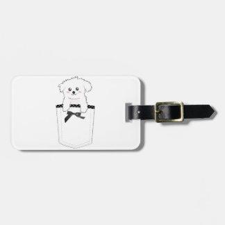 Cute Pocket Puppy Dog Travel Bag Tag