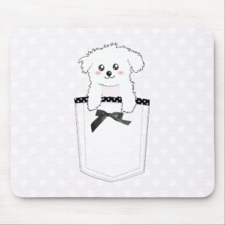 Cute Pocket Puppy Dog Mouse Pad