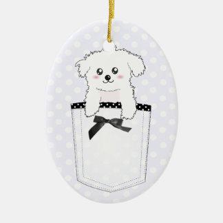 Cute Pocket Puppy Dog Christmas Ornament