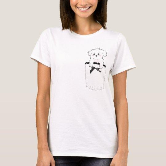 Cute Pocket Puppy Dog T-Shirt