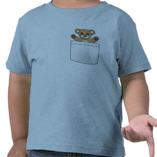 Cute Pocket Teddy Bear - Light T-shirt