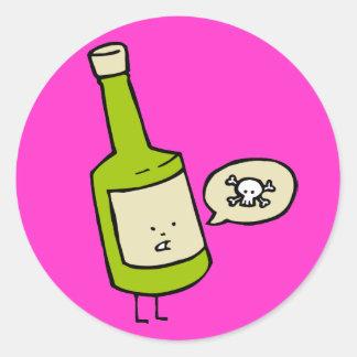 Cute Poison Bottle Classic Round Sticker