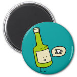 Cute Poison Bottle Refrigerator Magnet