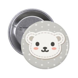 Cute Polar Bear 2 Inch Round Button