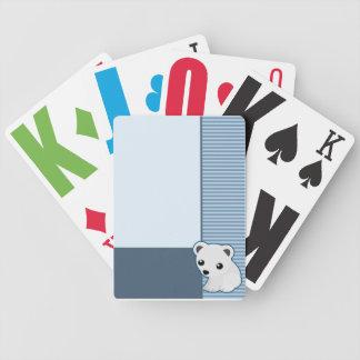 Cute Polar Bear Blue Cards