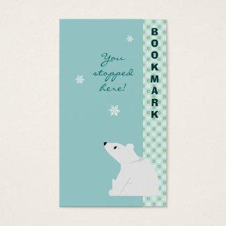 Cute Polar Bear Bookmark Business Card