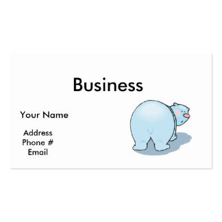 cute polar bear butt business card