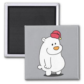 Cute Polar Bear Cartoon Magnet