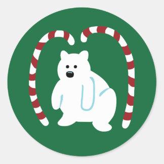 Cute Polar Bear Classic Round Sticker
