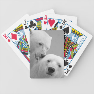 Cute polar bear couple bicycle playing cards