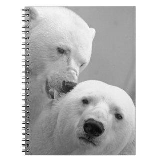 Cute polar bear couple notebook