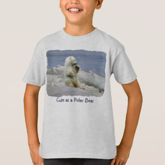 Cute Polar Bear Cub & Arctic Ice Kids Shirt